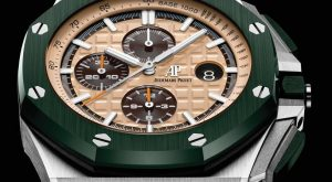 The well-designed copy Audemars Piguet Royal Oak Offshore 26400SO.OO.A054CA.01 watches have cream-colored dials, white luminant hour marks and hands, date windows and three chronograph sub-dials.