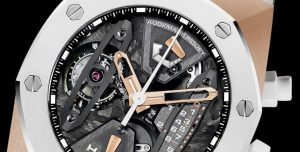 The skeleton dials copy Audemars Piguet Royal Oak Concept 26223RO.OO.D010CA.01 watches have many useful details.