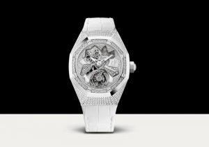 The beautiful replica Audemars Piguet Royal Oak Concept 26227BC.ZZ.D011CR.01 watches are worth for ladies.