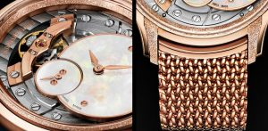 The luxury replica Audemars Piguet Millenary 77244OR.GG.1272OR.01 watches are made from 18k rose gold.