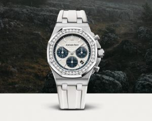 The luxury replica Audemars Piguet Royal Oak Offshore 26231ST.ZZ.D010CA.01 watches are decorated with diamonds.