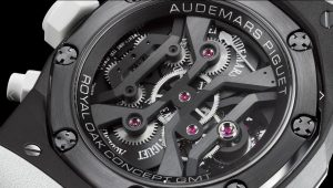 You can see the excellent movements, calibers 2930, which can supply of 237 hours power reserve to the reliable replica Audemars Piguet Royal Oak Concept 26580IO.OO.D010CA.01 watches.