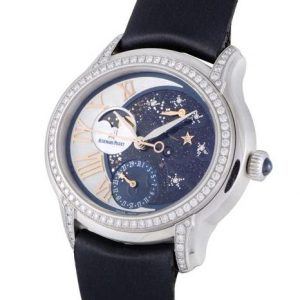 The off-centred dials fake Audemars Piguet Millenary 77315BC.ZZ.D007SU.01 watches have starry sky.