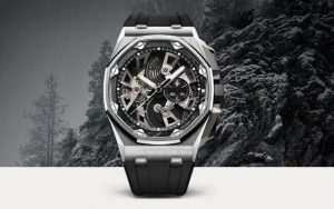 The stainless steel fake Audemars Piguet Royal Oak Offshore watches have skeleton dials.
