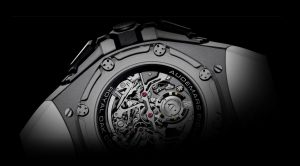 The titanium copy Audemars Piguet Royal Oak Concept 26587TI.OO.D010CA.01 watches have transparent sapphire backs.