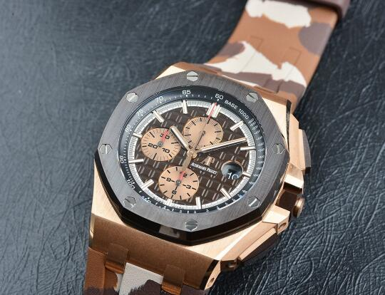 It is the first time that Audemars Piguet uses the brown ceramic bezel.