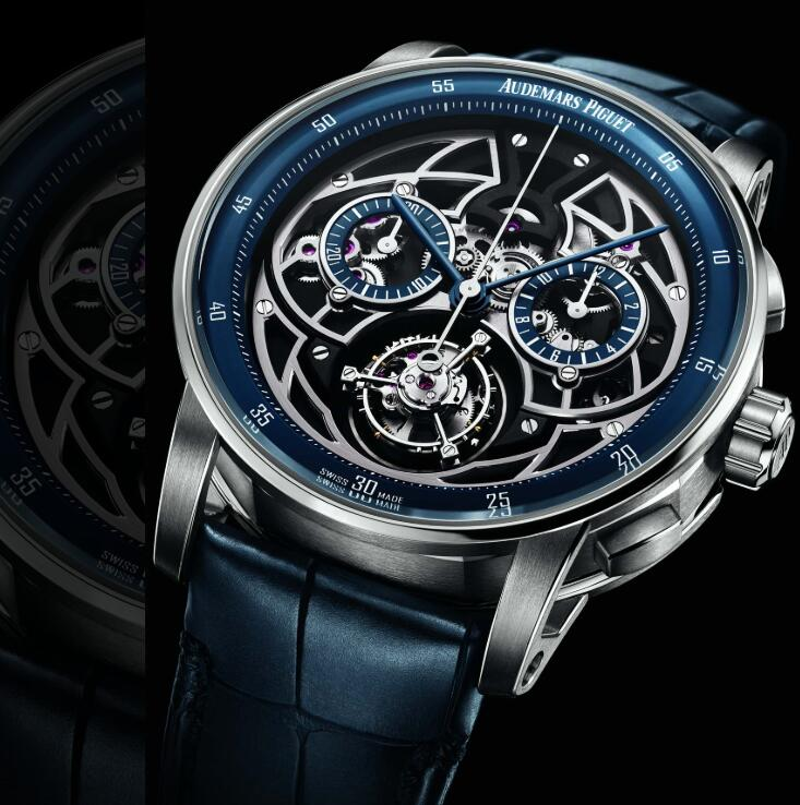 The skeleton dial allows you to appreciate the movement.