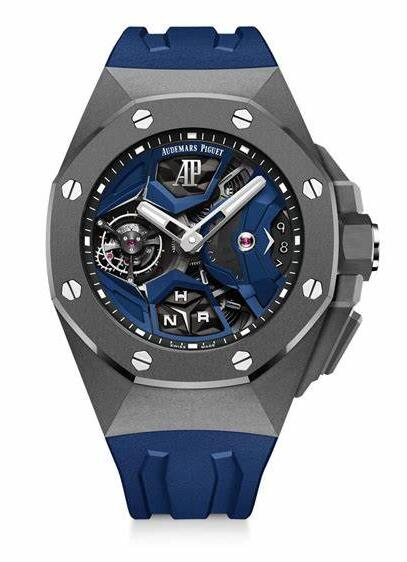 Online fake watches look refreshing with blue decoration.