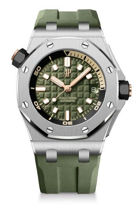 Swiss made fake watches are fashionable with khaki green color.