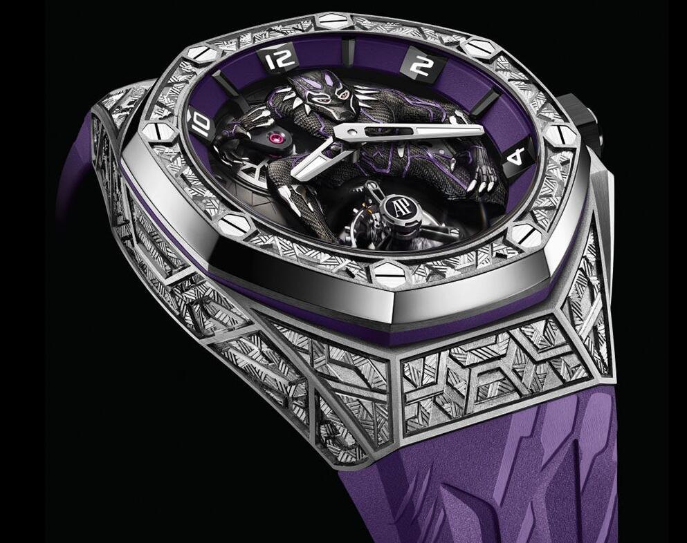 Online imitation watches make the most of purple color.